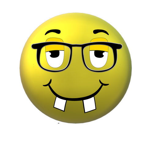 smiley  glasses  nerd