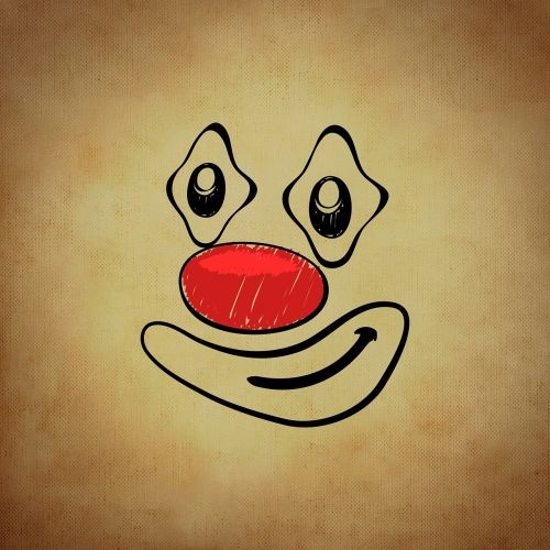 smiley emoticon clown