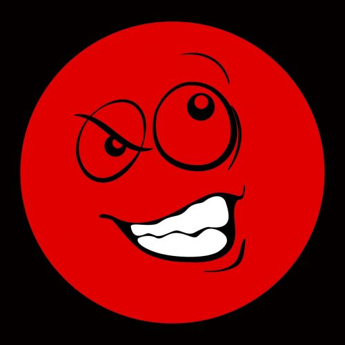 smiley emoticon evil