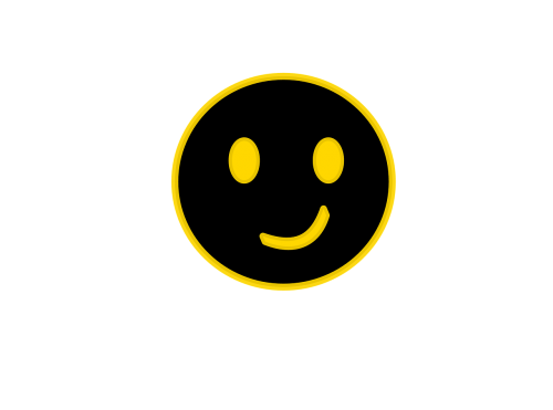 smiley face crooked inverted smiley face