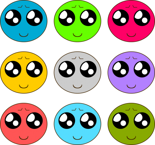smileys colors happiness