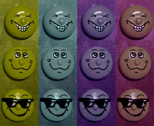 smilies funny color