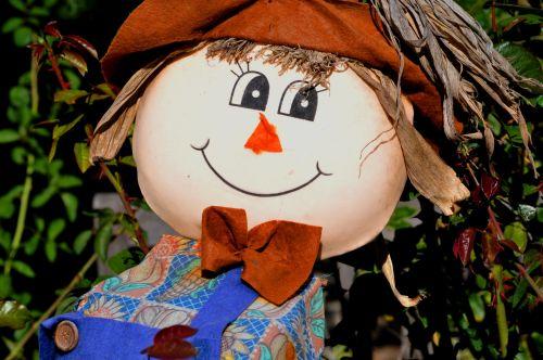 Smiling Boy Scarecrow