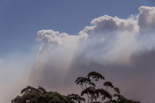 smoke clouds bushfire