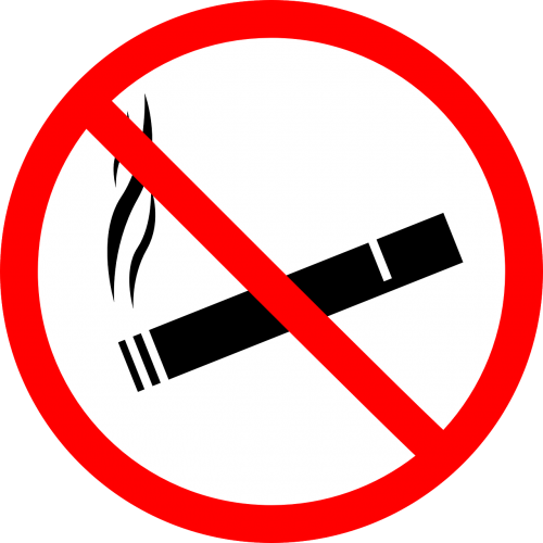 smoke warning sign