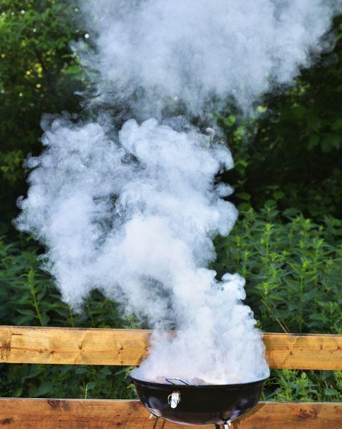 smoke grill meat