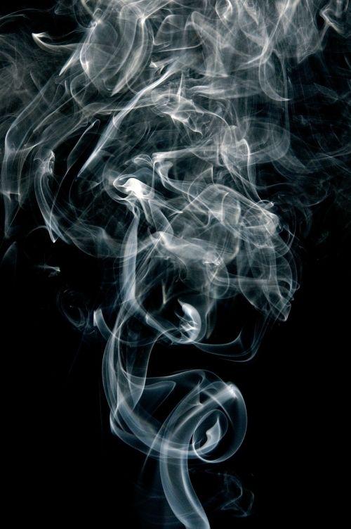 smoke fumes black