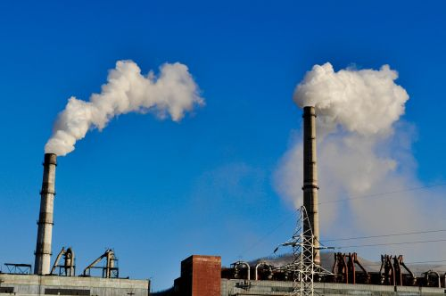 smoke pipe power plant