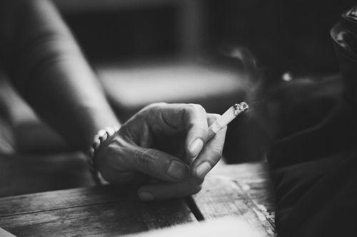 smoke black and white smoking