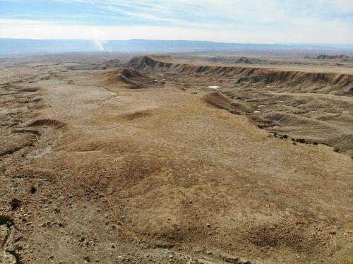 dykuma, dūmai, slėnis, didelis & nbsp, slėnis, Colorado, vakarų & nbsp, spalvotas, antena, drones, kraštovaizdžiai, dūmai pakyla per slėnį