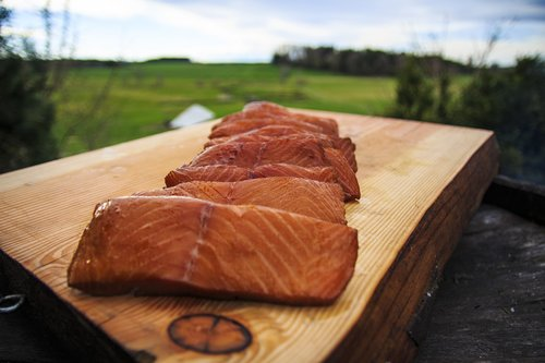 smoked salmon  smoker  nature