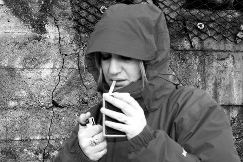 smoking portrait girl