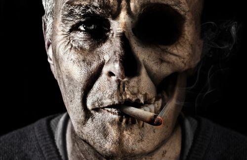 smoking cigarette smoke