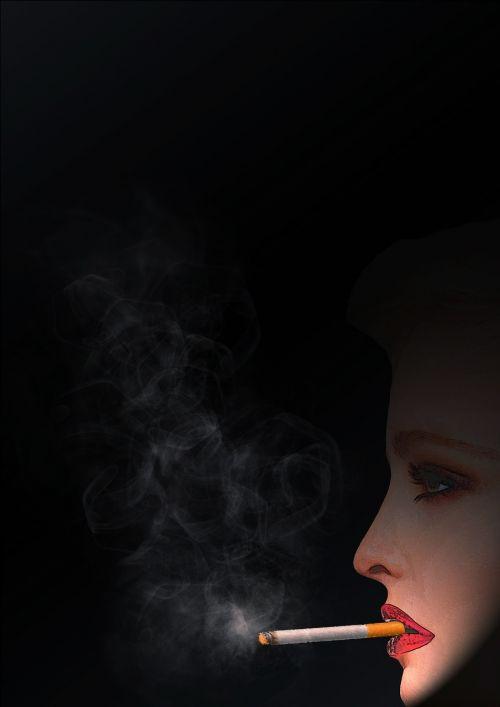 smoking cool woman