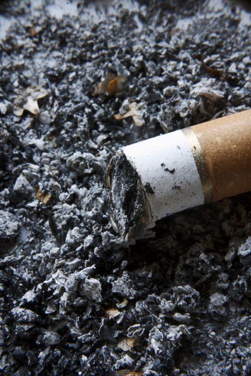 smoking ash cigarette