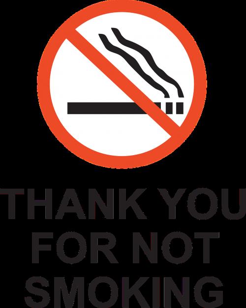 smoking forbidden rule