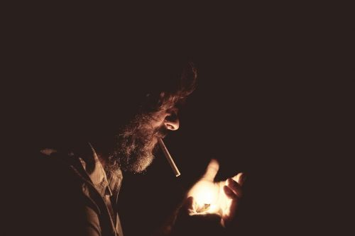 smoking lighter dark