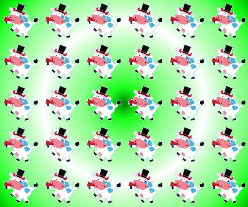 fonas, apdaila, ornamentu, spalva, kūrybingas, modelis, tapetai, iliustracija, karvė, rūkymas, rūkymas karvės fone