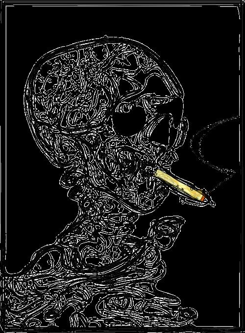 rūkymas žudo,kaukolė,rūkymas,dūmai,mirtini,mirtis,cigarečių,nemokama vektorinė grafika