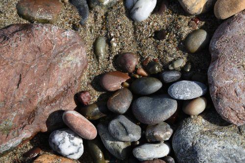 akmenys, lygus, fonas, vandenynas, papludimys, akmenys, brangakmeniai, naršyti, tekstūra, išlyginti akmenys