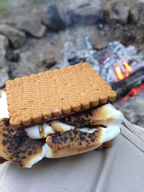 smores marshmallow camping