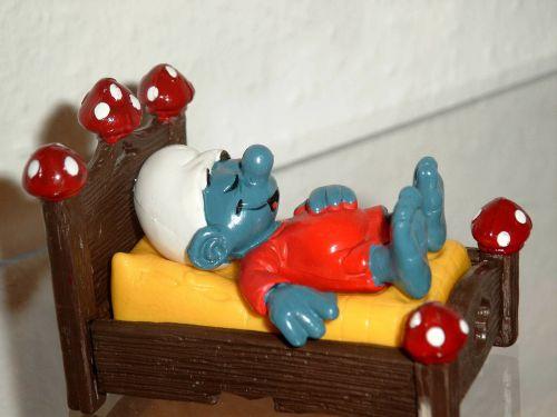 smurf smurfs bed