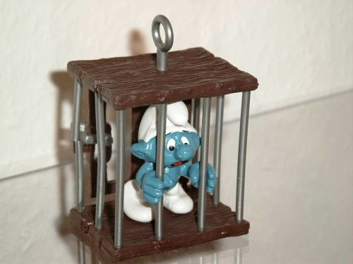smurf caught prison