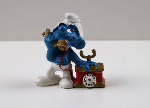 smurf smurfs telephone smurf