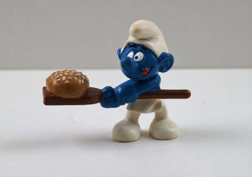 smurf smurfs baker smurf