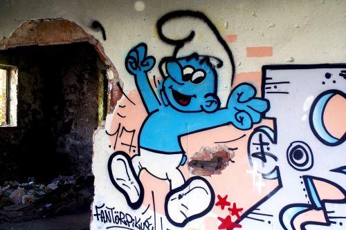 smurf smurfs graffiti