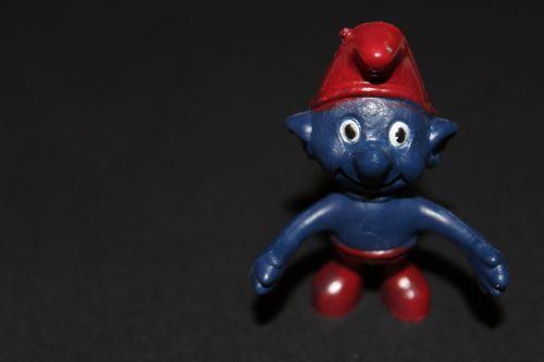 smurf figure blue