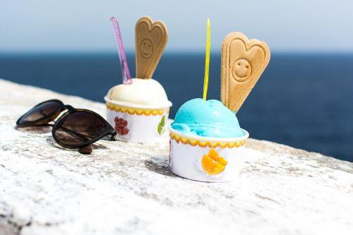 smurf ice cream dessert colorful