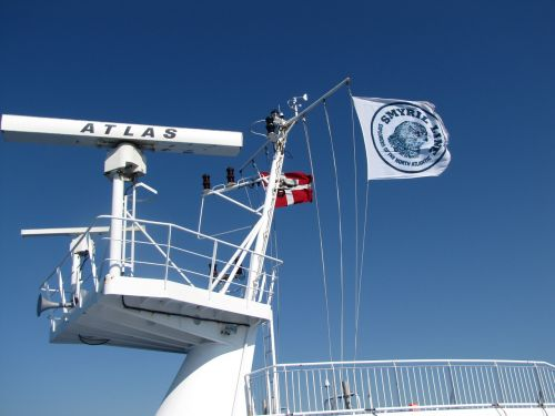 smyril line ferry flagpole