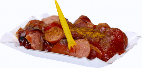 snack currywurst eat
