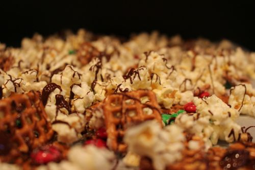 snack popcorn pretzel