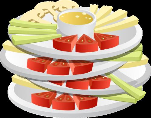 snacks food vegetables