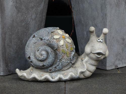 snail funny stone figure sensor