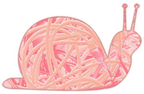 snail slow pink