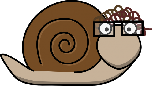 snail glasses curls