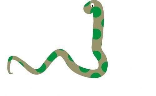 snake green caricature