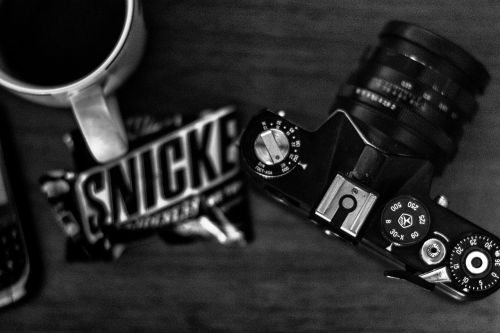 snickers photo camera