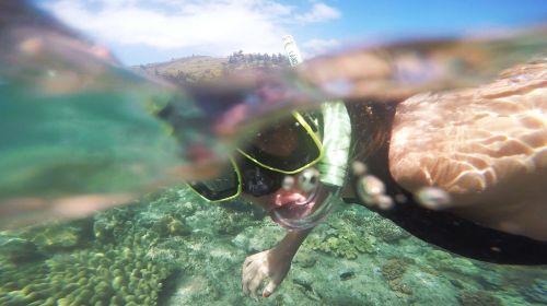 snorkel diving fun