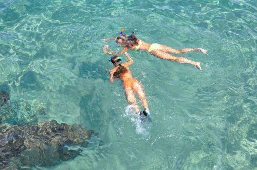 snorkeling water bright
