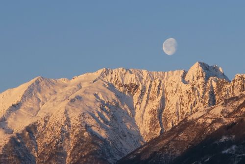 snow luna mountain