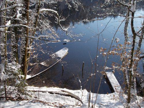snow landscape idyll