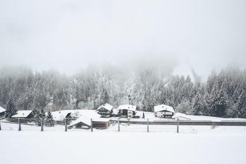 snow village winter