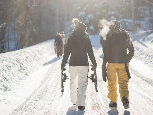 snow path hiking