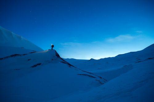 snow randonée blue