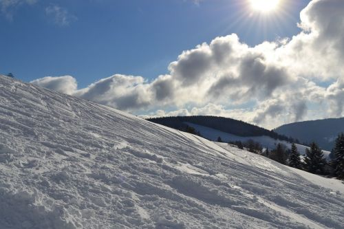 snow sun runway