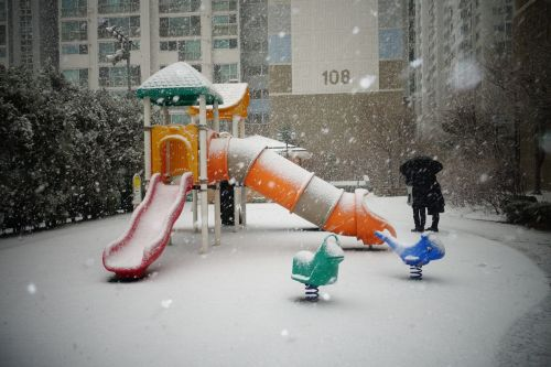 snow playground winter